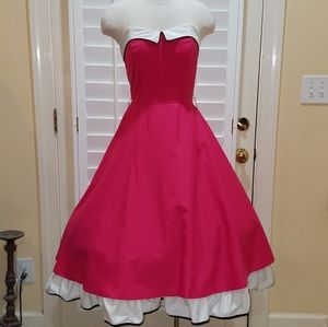 Vintage Pink Sundress Strapless